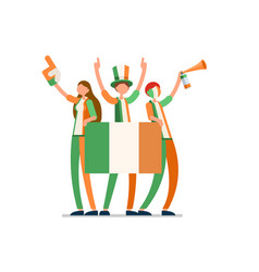 Irish flag ireland people vector