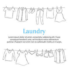 Laundry service banner template with male and vector