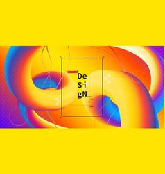 liquid color geometric background vector image
