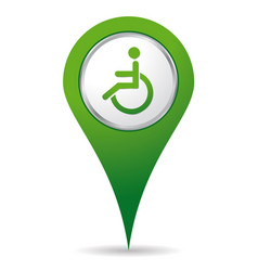 location handicap icon vector image