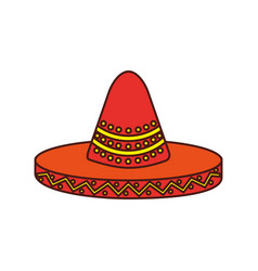 Mexican hat carnival costume headdress vector