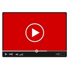 Modern flat video player interface eps vector