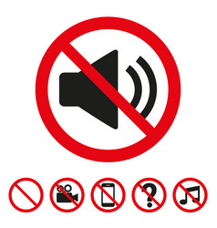 No sound sign on white background vector