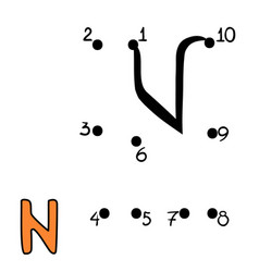 numbers game letter n vector image
