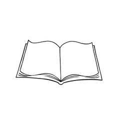open book 3 vector image