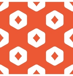 Orange hexagon diamonds pattern vector