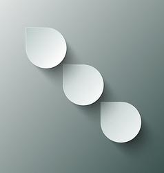 Paper Cut Water - Rain Drops vector image