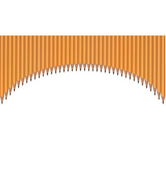 Pencils located arc on a white background vector