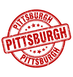 Pittsburgh red grunge round vintage rubber stamp vector