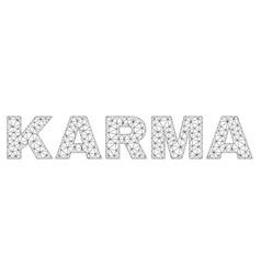 Polygonal mesh karma text caption vector