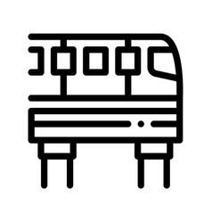Public transport monorail thin line icon vector