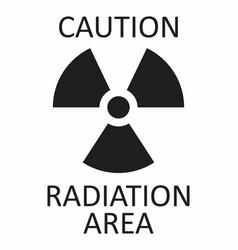 radiation caution symbol vector image
