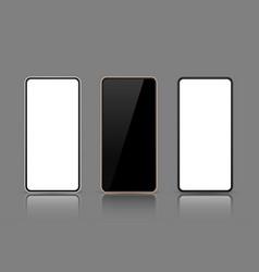 realistic smartphone phone screen mock up vector image