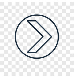 right arrow concept linear icon isolated on vector image