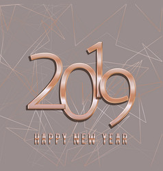 rose gold happy new year background vector image