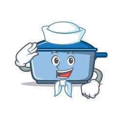 sailor kitchen character cartoon style vector image