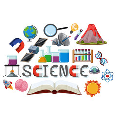 science logo with education objects vector image