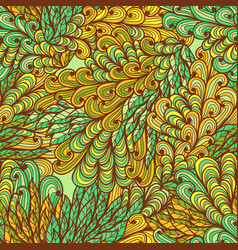 Seamless floral ornate bright summer pattern vector
