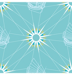 Seamless Sailing Pattern vector image
