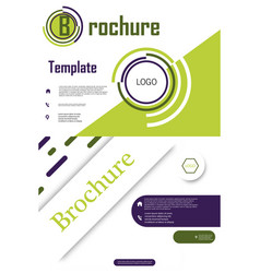 Set of brochure cover design and flyer layout vector