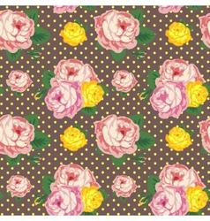Shabchic seamless pattern vintage roses vector