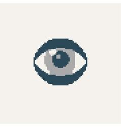 Simple stylish pixel eye icon design vector image