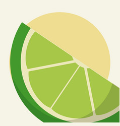 Sliced lemon cartoon vector