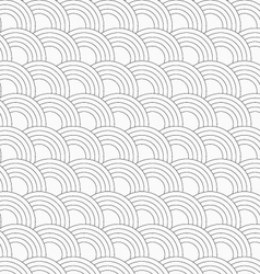 Slim gray offset overlapping circles vector