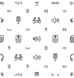 Stereo icons pattern seamless white background vector