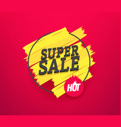 Super sale advertising banner vector