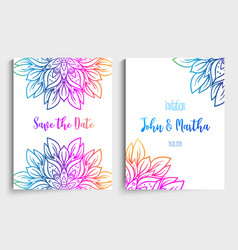 template design layout for wedding invitation vector image