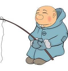 The fisherman vector image