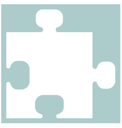 The puzzle the white color icon vector