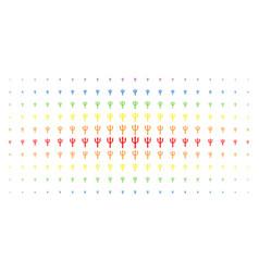 trident fork spectral halftone array vector image