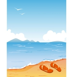 Tropic beach vector