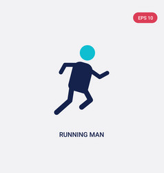 Two color running man icon from hobbies concept vector