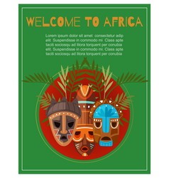 welcome to africa poster lettering african vector image