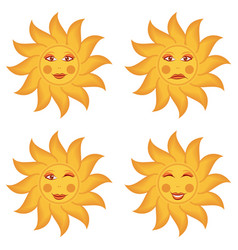 wide maslenitsa card with emotions of sun vector image