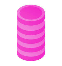 Wifi cylinder icon isometric style vector
