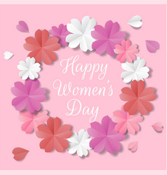 Womens day origami vector