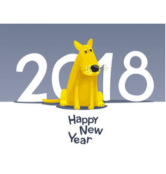 yellow dog 2018 vector image