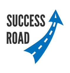 Blue road symbol vector