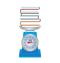 Books on the scales vector image