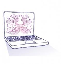 computer doodle vector image vector image