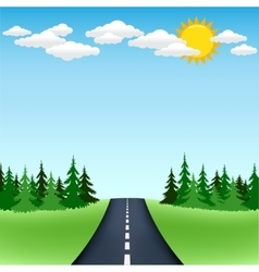 Horizon road trip vector