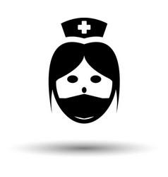 nurse head icon vector image