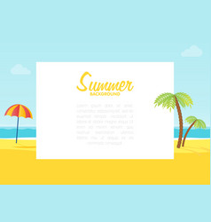 summer tropical sea beach background with space vector image