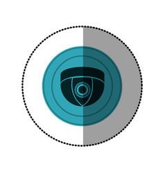 Blue symbol video camera interior icon vector