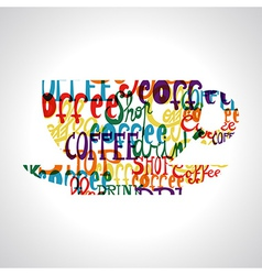 Coffee cup shape vector image vector image