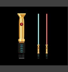 light swords flat style design vector image